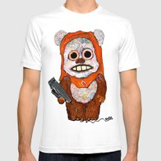 Eccentric Ewok Mens Fitted Tee White SMALL