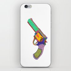 gun shoots color iPhone & iPod Skin
