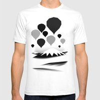 Morning wind balloons Mens Fitted Tee White SMALL