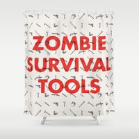 Zombie Survival Tools - … Shower Curtain