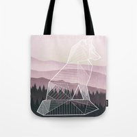 Geometric Nature - Fox (Full) Tote Bag