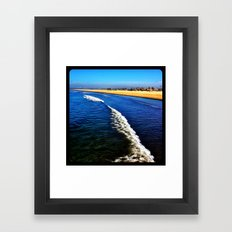 Beach. Framed Art Print