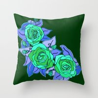 With The Roses Throw Pillow
