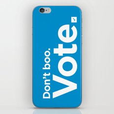 Don't Boo. Vote. iPhone & iPod Skin