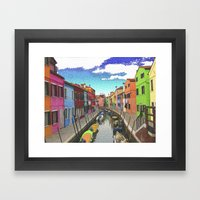 Village Colors Framed Art Print