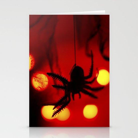 halloween spider Stationery Card