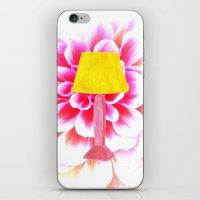 lamp shade flower illustration iPhone & iPod Skin