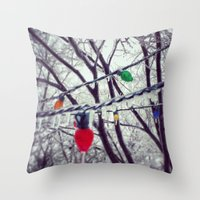 Frozen Lights Throw Pillow