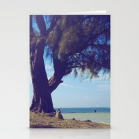 Fisherman In The Distanc… Stationery Cards