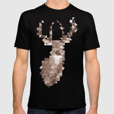 Dear Deer Mens Fitted Tee SMALL Black