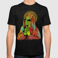 Mother Mary Mens Fitted Tee Tri-Black SMALL