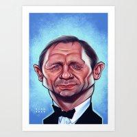 Daniel Craig as James Bond Art Print