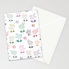 Cacti under the moon Stationery Cards