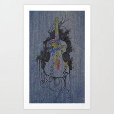 Color Is Music Art Print