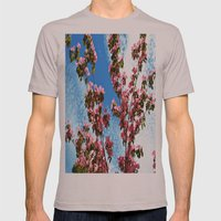 Sky/Flowers Mens Fitted Tee Cinder SMALL