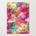 Random Paint Canvas Print