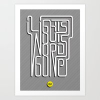 Lights Out, Words Gone Art Print