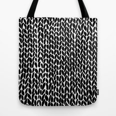 Hand Knitted Black S Tote Bag