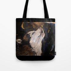 Howling Husky Tote Bag