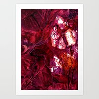 Abstract Cave Art Print