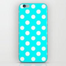 Polka Dots (White/Aqua Cyan) iPhone & iPod Skin