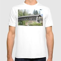 Bridge At The Falls Mens Fitted Tee White SMALL