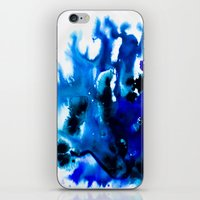 Paint 8 abstract indigo watercolor painting minimal modern canvas art affordable home decor trendy iPhone & iPod Skin