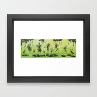 The family portrait Framed Art Print