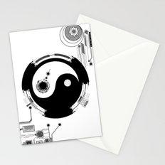 Tech Yin Yang Stationery Cards