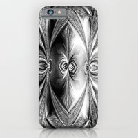 Abstract Peacock. Black+White. iPhone 6 Slim Case