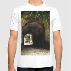 Old tunnel 2 White Mens Fitted Tee SMALL