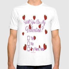Valentines Love Mens Fitted Tee White SMALL