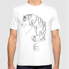 Majestic White Mens Fitted Tee SMALL