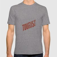 TOURIST Mens Fitted Tee Tri-Grey SMALL