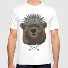 BossBear White Mens Fitted Tee SMALL