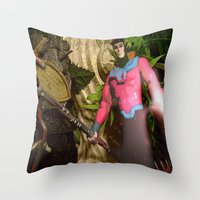 Gambit: In The Ruins Throw Pillow