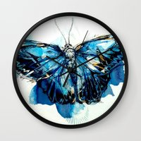 Mighty Morpho Butterfly Wall Clock