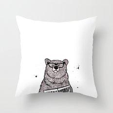 Smarter than the average... Throw Pillow