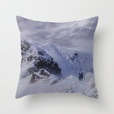 Hiking on top of The World Throw Pillow
