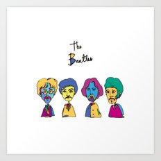 the beathles Art Print