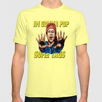 Thrift Shop Mens Fitted Tee Lemon SMALL
