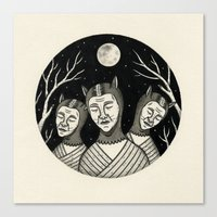 Trio of Narcoleptic Cats Canvas Print