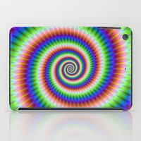 Green Blue Red and Yellow Spiral iPad Case
