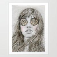Trouble Sleeping Art Print