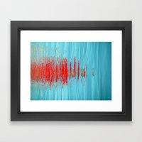 Slash Of Red Framed Art Print