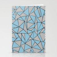 Ab Blocks Blue #2 Stationery Cards