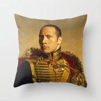 Dwayne (The Rock) Johnson - replaceface Throw Pillow