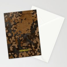 Modern Woodgrain Camouflage / Flecktarn Print Stationery Cards
