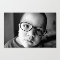Cute Kid With Glasses  Canvas Print