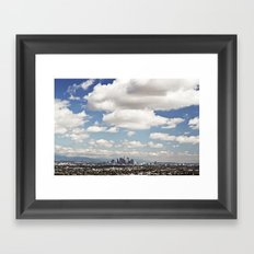 Los Angeles Cityscape Framed Art Print